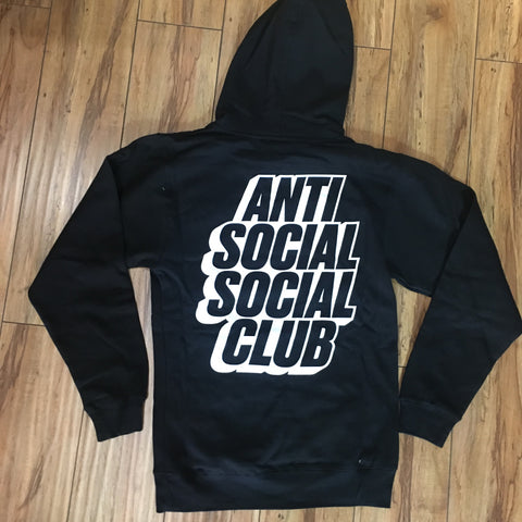 Anti Social Social Club Blocked Hoodie Black Sz S