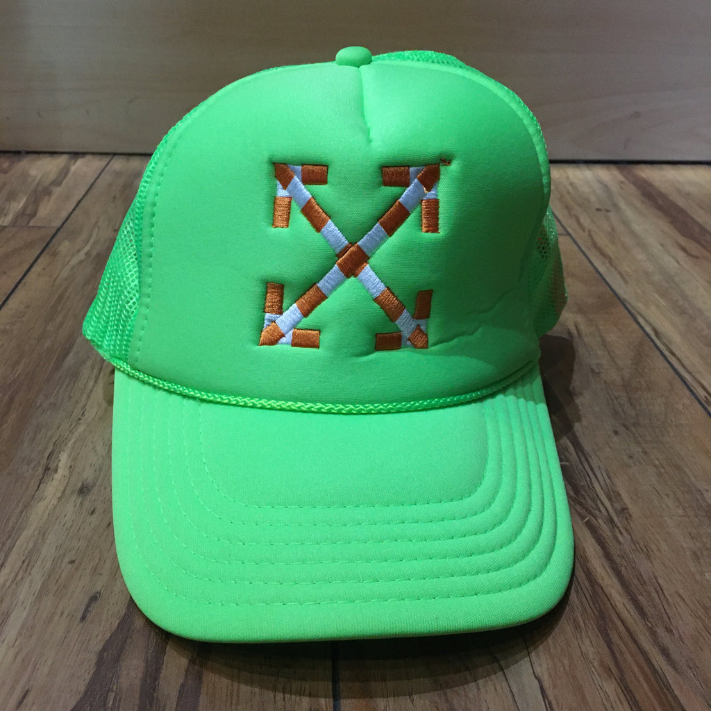 Off White Snap Back Hat Green