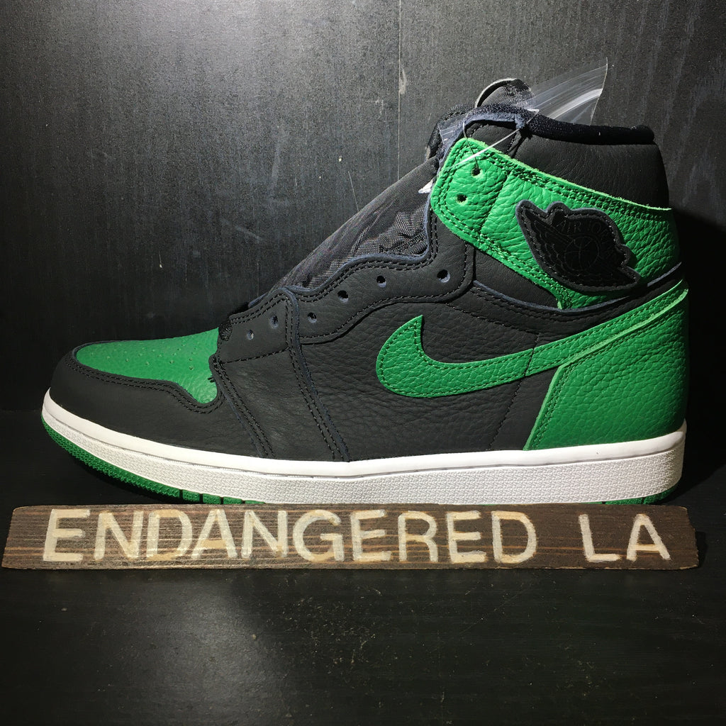 Air Jordan 1 Pine Green Black Sz 10