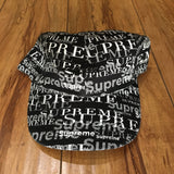 Supreme Hat Logo Pattern 6-Panel Black F/W20'