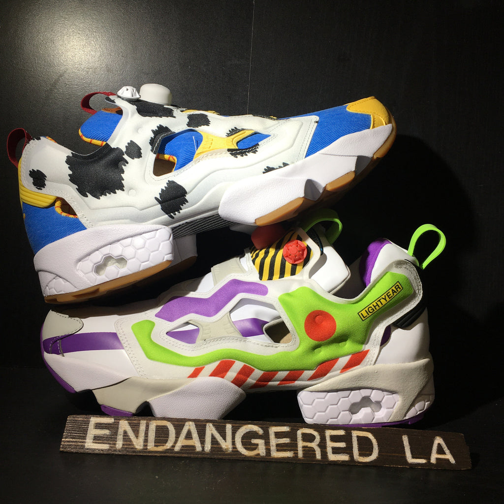 Reebok Instapump Fury Bait x Toy Story Woody and Buzz Sz 9.5