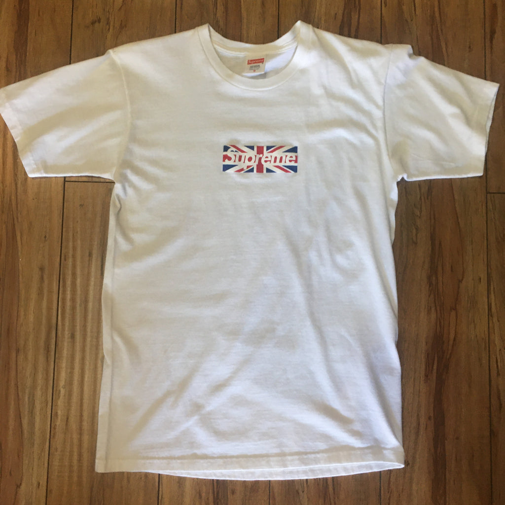 Supreme Box Logo UK Tee White Sz M