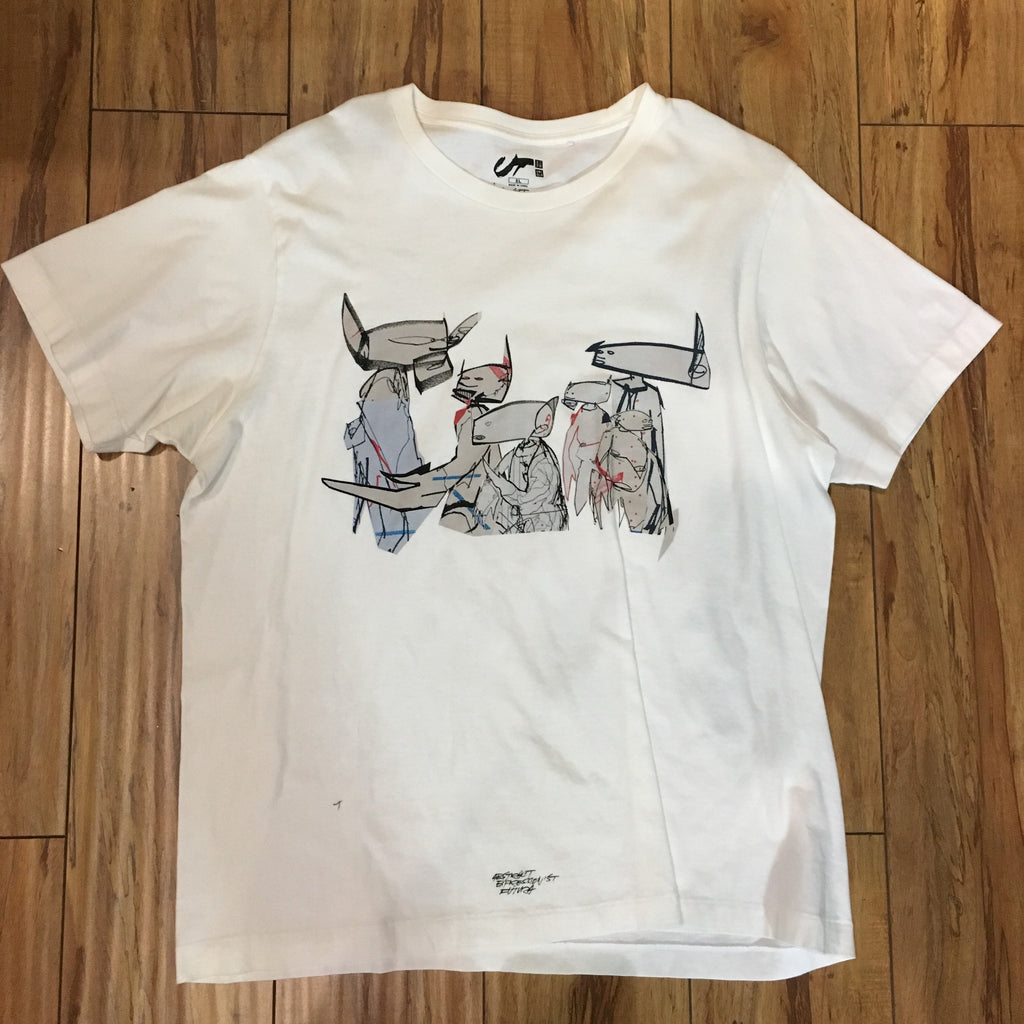 Uniqlo Futura White Tee Sz XL