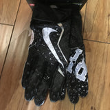 Supreme Nike Vapor Jet 4.0 Football Gloves F/W 18' Black Sz M