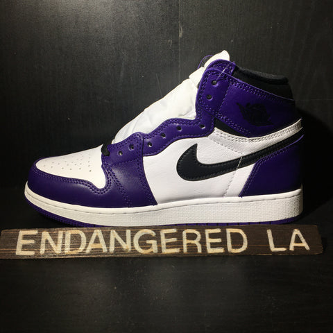 Air Jordan 1 Court Purple 2.0 Sz 5.5
