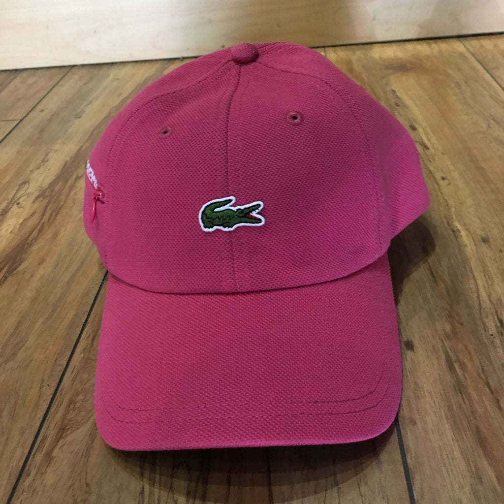 Supreme Hat Lacoste Pique 6-Panel Pink F/W 19'