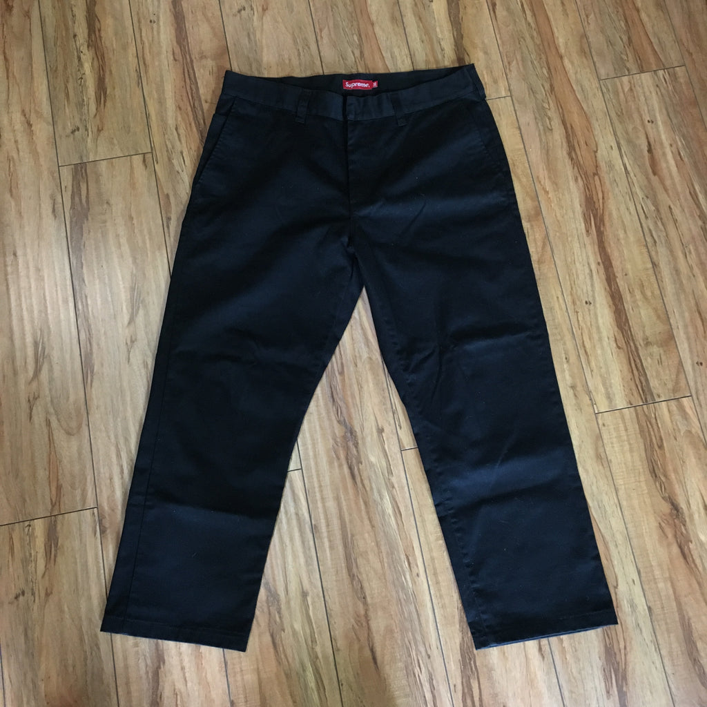 Supreme Work Pants Black F/W 18' Sz 36