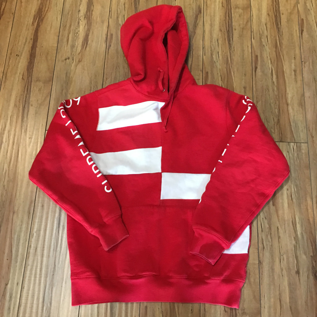 Supreme Hoodie Block Stripe Red S/S 09' Sz L