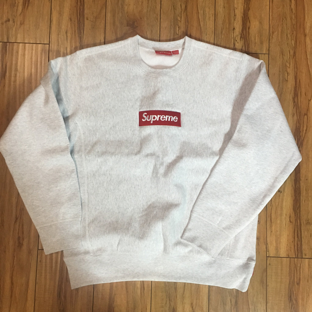 Supreme Crew Neck Box Logo Ash Grey F/W 18' Sz L