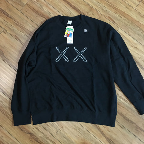 Uniqlo Kaws Crew Neck Double X Black Sz S