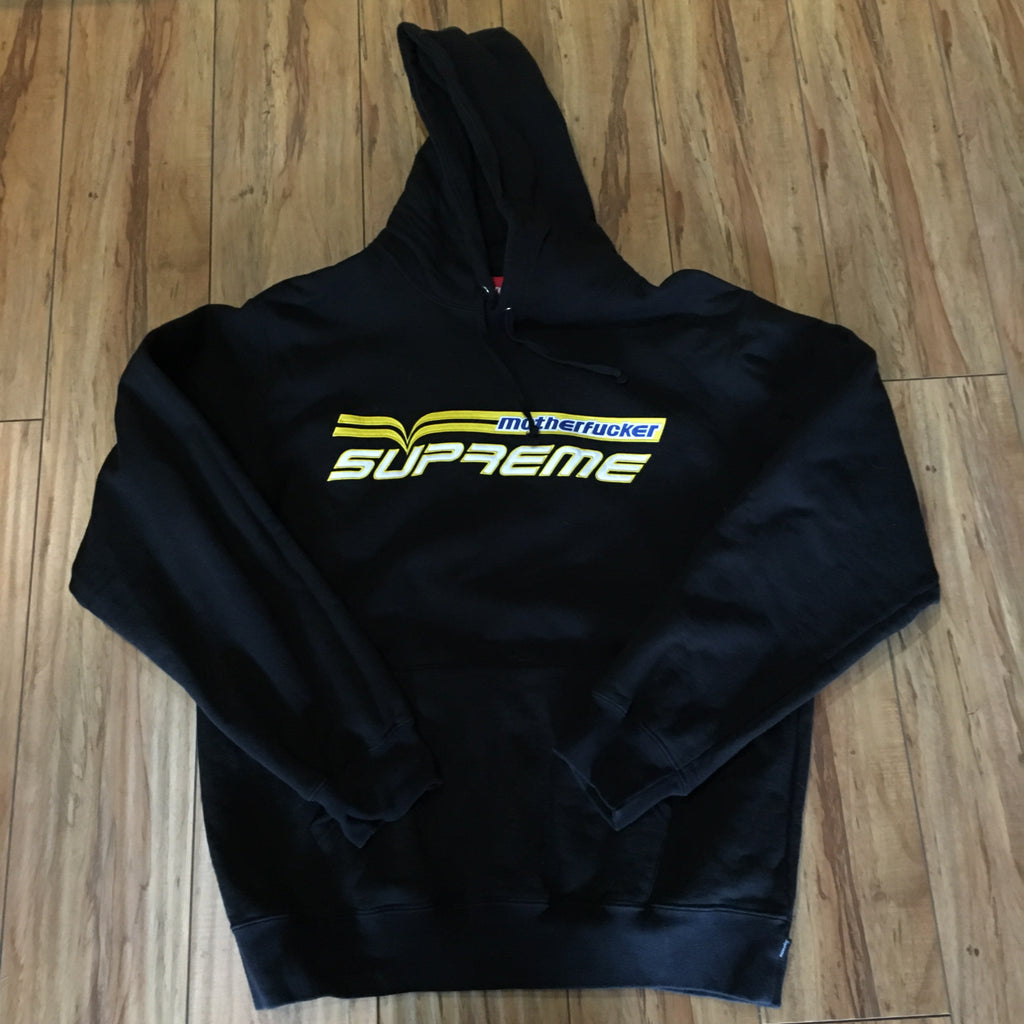 Supreme Hoodie MotherFucker Black S/S19' Sz Large