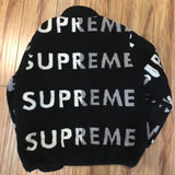 Supreme Jacket Reversible Logo Fleece Black F/W 18' Sz L