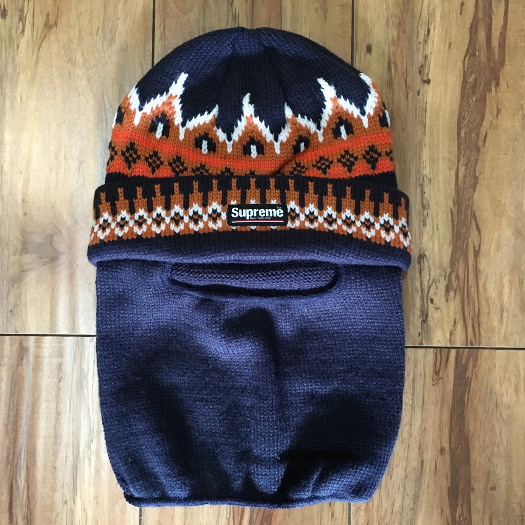 Supreme Beanie Facemask Navy F/W 19'