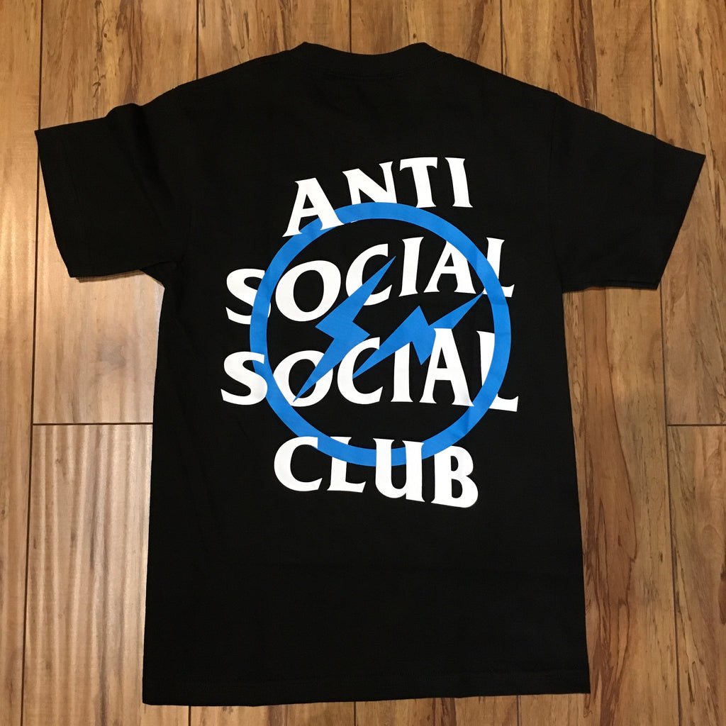 Anti Social Social Club x Fragment Tee Black Sz S