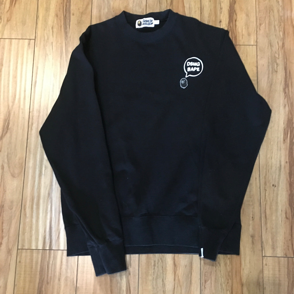 Bape DSMG Crew Neck Black Sz XL