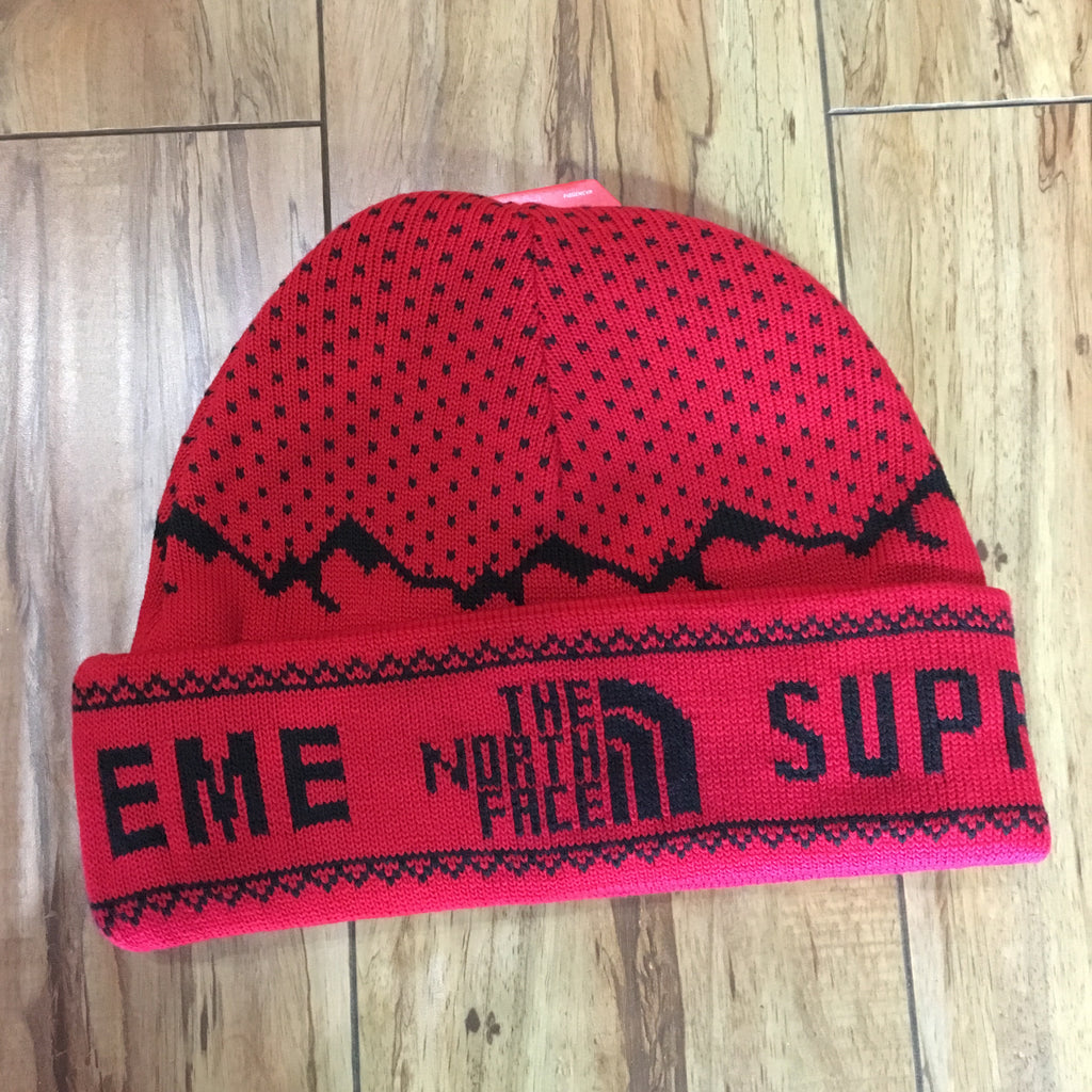 Supreme Beanie TNF Expedition Red F/W 18'