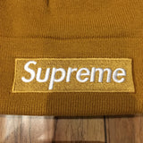 Supreme Beanie New Era Box Logo Mustard F/W 18'