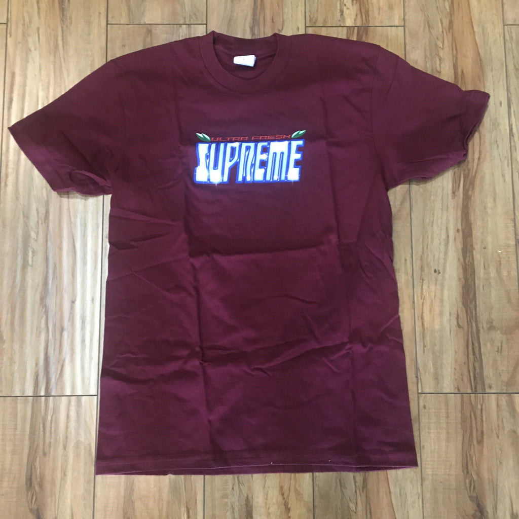 Supreme Ultra Fresh Tee Burgundy F/W 20' Sz S