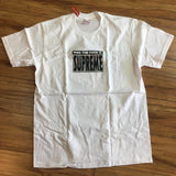 Supreme Who The Fuck Tee White S/S 19' Sz M