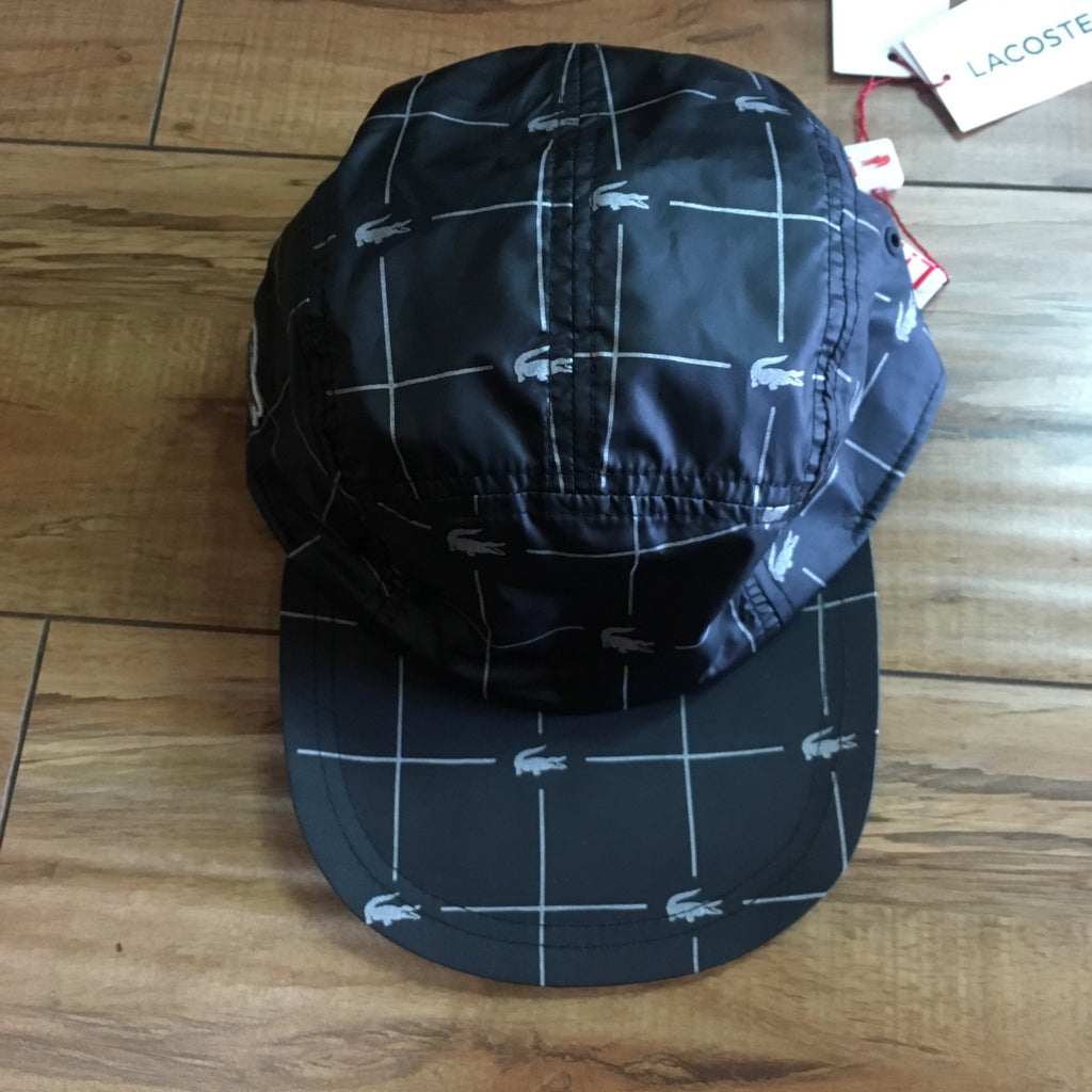 Supreme Hat Lacoste Reflective Black S/S 18'
