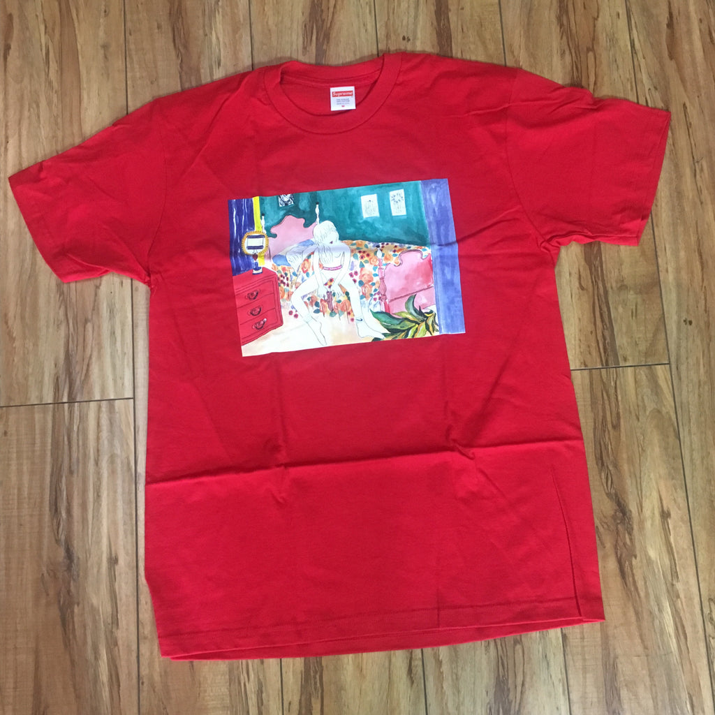 Supreme Bedroom Tee Red F/W 18' Sz M