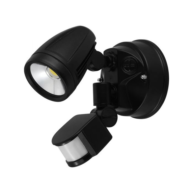 Chopper - 12W LED Flood Light with Sensor - Black
