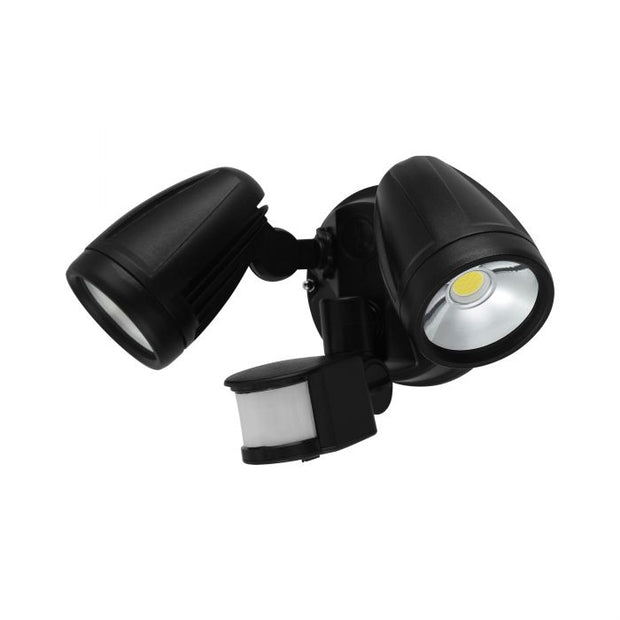 Chopper - 2 x 12W LED Flood Light with Sensor - Black