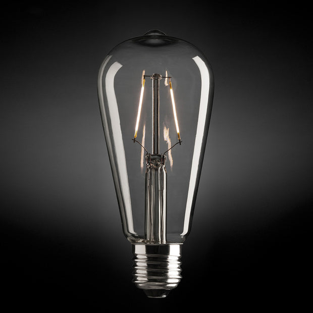 4W Pear Carbon Filament LED Globe - Bayonet - Warm White