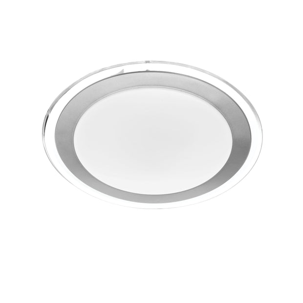 Astrid 18w CCT LED Oyster 300mm SILVER