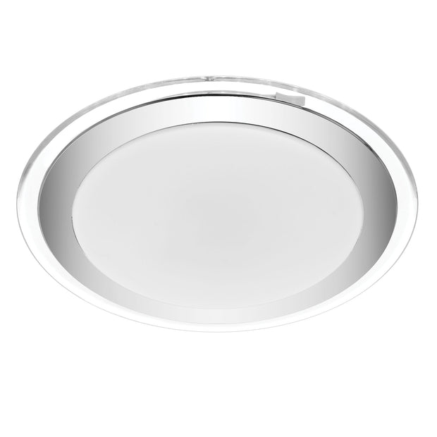 Astrid 30w CCT LED oyster 400mm CHROME