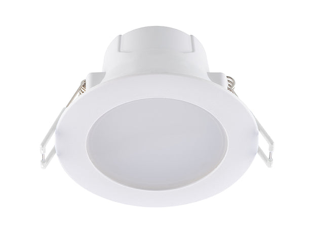 Eko 6w Flush 70mm CCT LED downlight - White