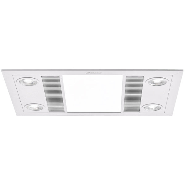 Linear 3 in 1 Bathroom Heater with Exhaust Fan and LED Lights - White