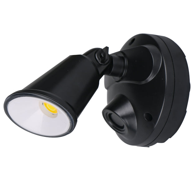 Defender - 10W Tri Colour LED Flood Light Polycarb - Black
