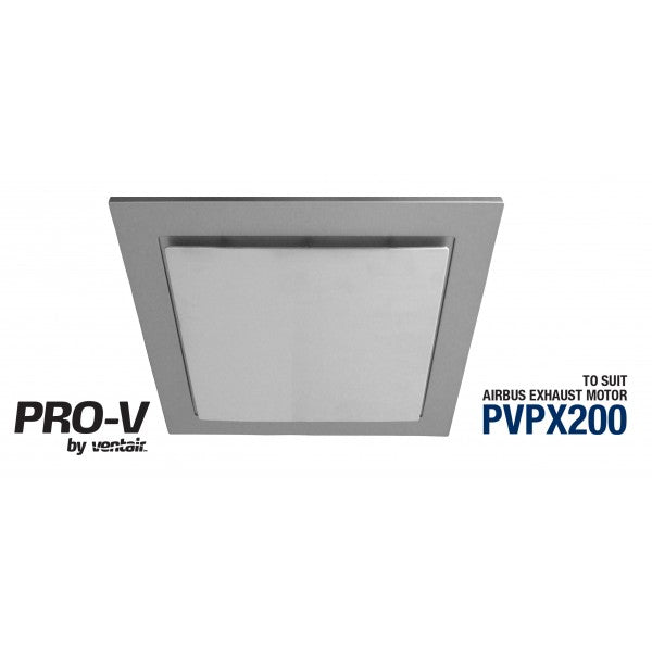 Airbus 200 Bathroom Exhaust Fan Square - Silver