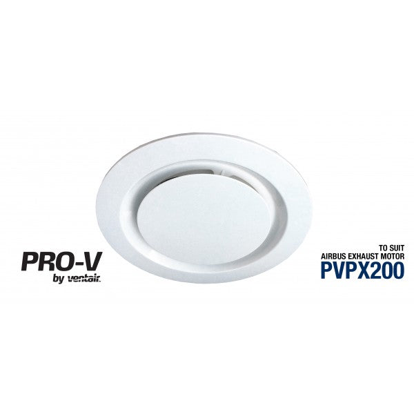Airbus 200 Bathroom Exhaust Fan - Round - White