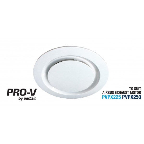 Airbus 250 Bathroom Exhaust Fan - Round - White