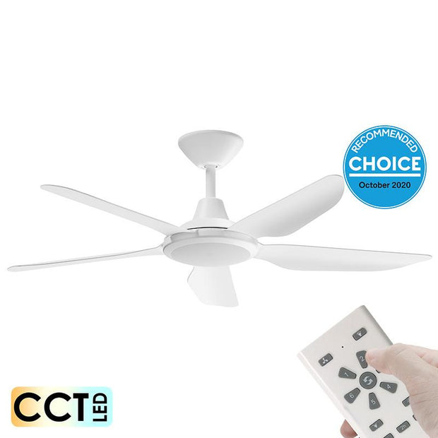 Storm DC 52 Ceiling Fan White - with LED Light