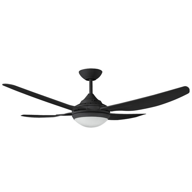 Ingram Black Ceiling Fan with CCT LED Light - 52""