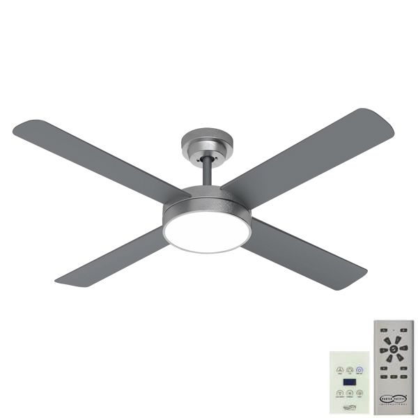 Pinnacle 52 DC Ceiling Fan Brushed Aluminium with LED Light