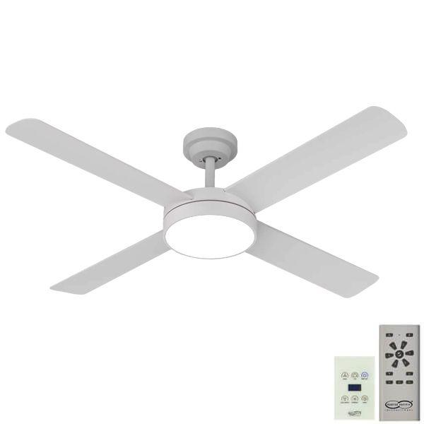 Pinnacle 52 DC Ceiling Fan White with LED Light