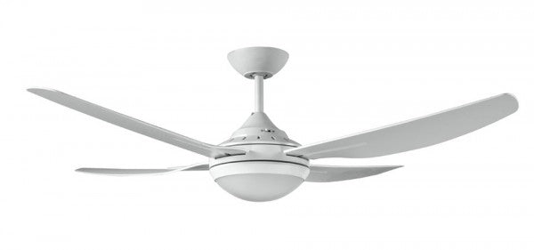 Royale 2 Ceiling Fan with LED Light - White 52""