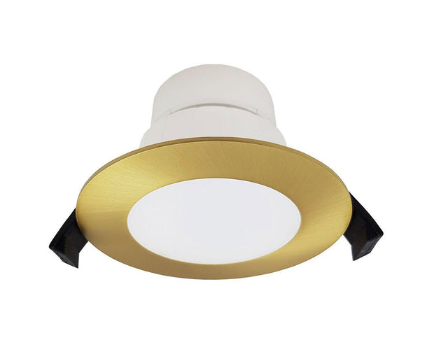 Roystar 9W Flush Face LED Downlight TRI Colour - Brushed Brass