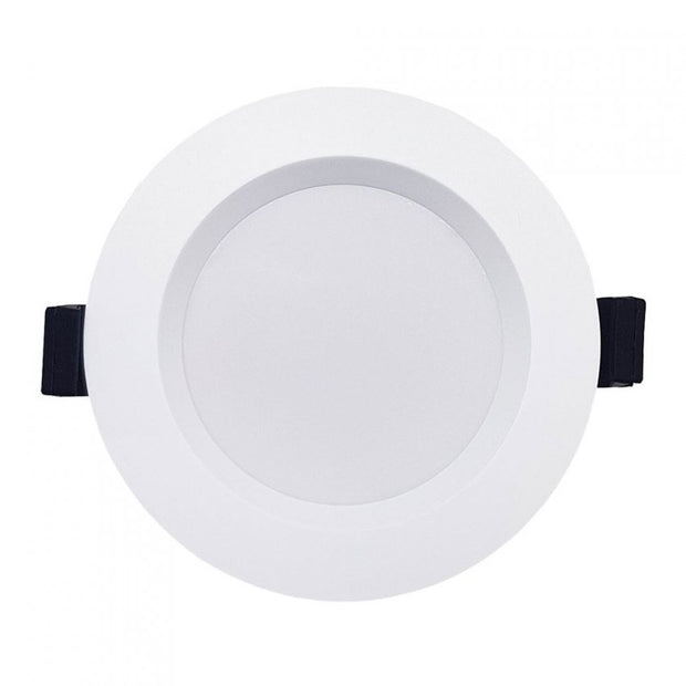 Roystar 9W Recessed Face LED Downlight TRI Colour - White