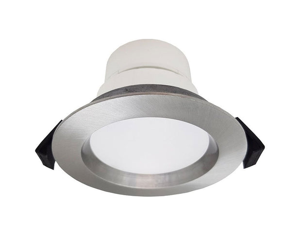 Roystar 9W Recessed Face LED Downlight TRI Colour - Brushed Chrome