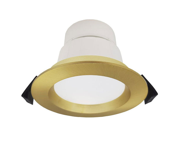 Roystar 9W Recessed Face LED Downlight TRI Colour - Brushed Brass