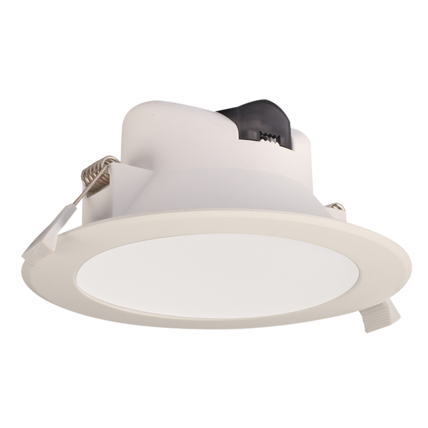 Wave 12W Flush Face LED Downlight TRI Colour - White