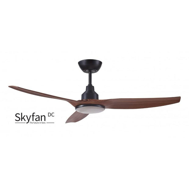 Skyfan 52 DC Ceiling Fan Teak with LED Light