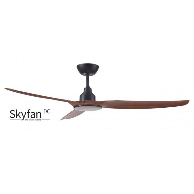 Skyfan 60 DC Ceiling Fan Teak with LED Light