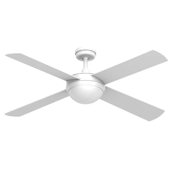 Ascot 52 Ceiling Fan White - 2x E27 Light