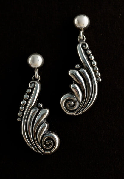 Baroque Swirl Drop Earrings